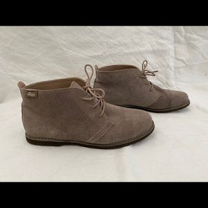 G.H Bass & Co Elyse Beige Suede Leather Boots 8